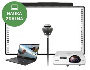 Tablica interaktywna BLACK 90 FULL HD + LAPTOP + kamerą Lenovo VoIP 360